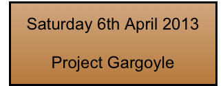 Saturday 6th April 2013