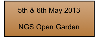 5th & 6th May 2013