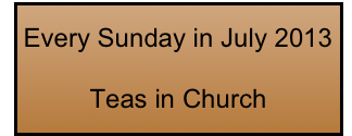 Every Sunday in July 2013