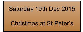 Saturday 19th Dec 2015